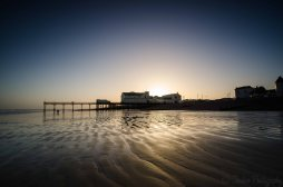 Sunset behind Bognor Pier