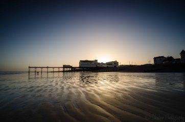 Sunset behind Bognor Pier