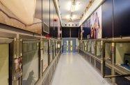One of the three pen corridors