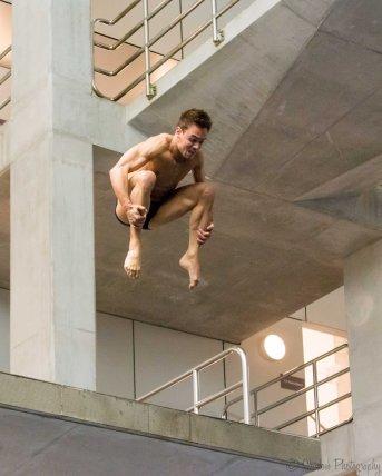Tom Daley - practising on 5m platform