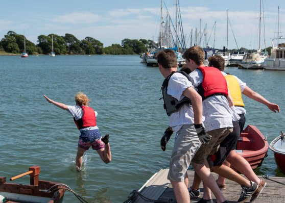 Victorious Coxswain takes a dunk