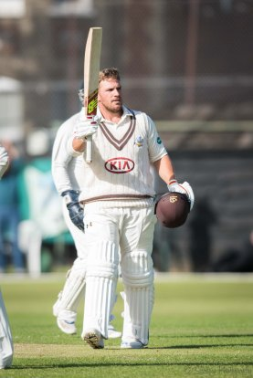 Aaron Finch Surrey debut hundred