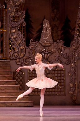 Melissa Hamilton as The Sugar Plum Fairy in The Royal Ballet production of The Nutcracker (1984), choreographed by Peter Wright after Lev Ivanovich Ivanov (1834-1901) to music by Pyotr Il'yich Tchaikovsky (1840-1893), with set and costume designs by Julia Trevelyan Oman (1930-2003) and lighting design by Mark Henderson. Performed at The Royal Opera House, Covent Garden on 23 December 2011 ***ARPDATA*** THE SLEEPING BEAUTY ; Music by Tchaikovsky ; Choreography by Wright ; The Royal Ballet ; At the Royal Opera House, London, UK ; 23 December 2011 ; Credit: Royal Opera House / ArenaPAL